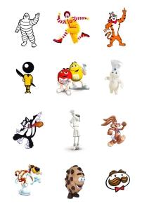 Recopilación de mascotas publicitarias. By TenTuLogo (www.tentulogo.es)